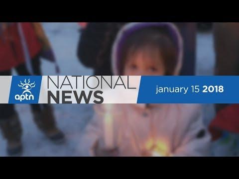 APTN National News January 15, 2018 – Maskwacis Vigil, Pipeline Pressure, Arctic Winter Games