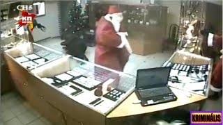 Russia  / Pawn Shop Robbery  Armed Robbers dressed as Santa Claus / KRIMINÁLIS