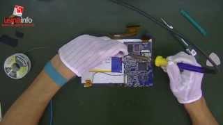 Desmontagem e troca do Display LCD - Tablet