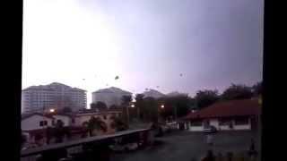 Tornado hits Pandamaran Klang Malaysia 21/10/2014