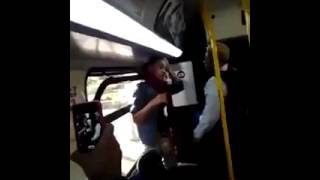 She had it coming, girl vs bus lady