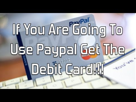 If You Are Going To Use Paypal Get The Debit Card Glendon Cameron