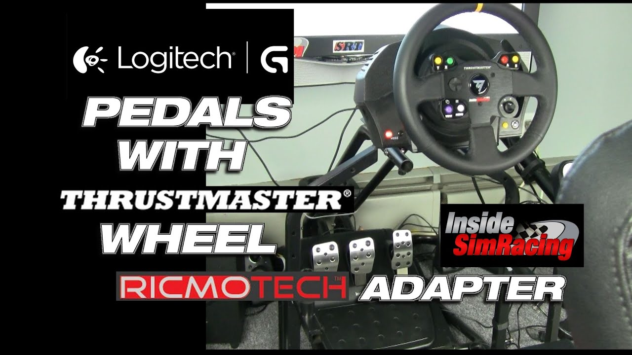 How To  Logitech Pedals With Thrustmaster Wheel