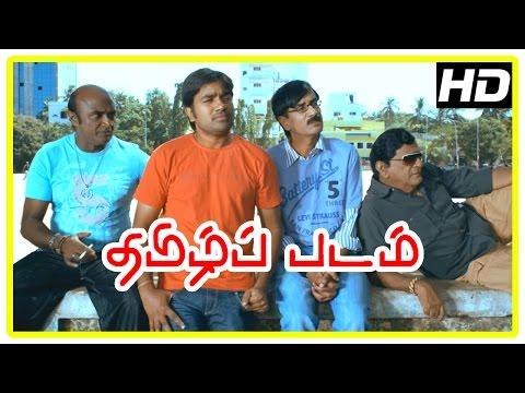 Thamizh Padam Movie Scenes | Shiva guides kidnappers | Manobala imitates Boys Siddharth | Manobala