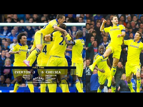 Chelsea vs Everton || 6-3 Memorable Match || All Highlights 2014 || HD