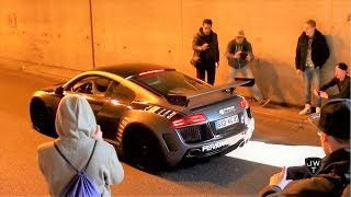 LOUD (MODIFIED) Audi R8 V8 & R8 V10 TUNNEL SOUNDS! Revs & Accelerations!