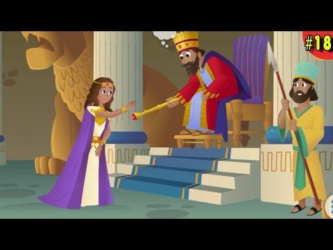 BÍBLIA PARA CRIANÇAS A HISTÓRIA DE ESTER UMA RAINHA CORAJOSA DESENHO BÍBLICO VELHO TESTAMENTO GAME