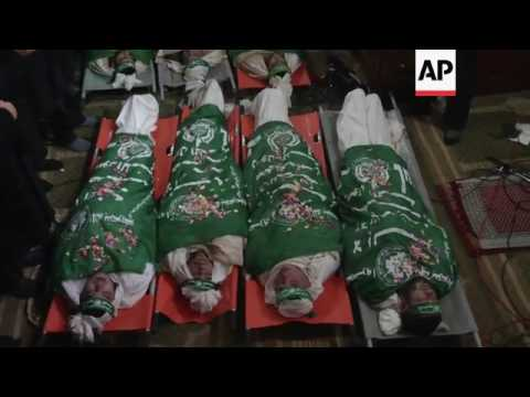 Militants killed in Gaza tunnel collapse buried