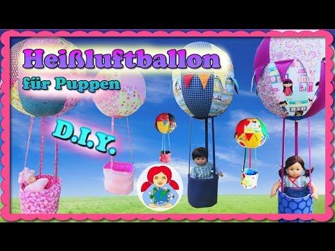 DIY | Heißluftballon für Puppen selber machen • Sami Doll Tutorials