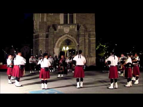"Irish Thunder Pipes & Drums playing ""Steam Train to Mallaig"" at VF ..."