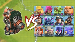 Boom canon vs All COC Ground troops | Shocking results, Ephod Necroz