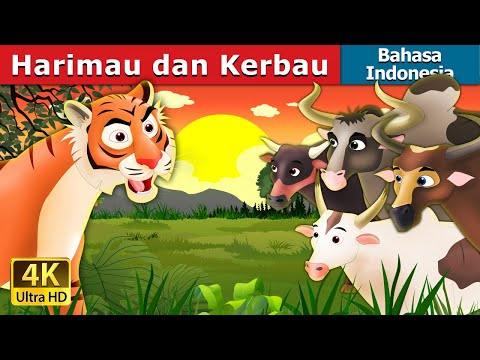 Harimau dan Kerbau | Tiger and Buffaloes Story in Indonesian | Dongeng anak | Indonesian Fairy Tales