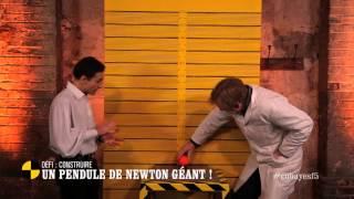 Défi : fabriquer un pendule de Newton géant - On n