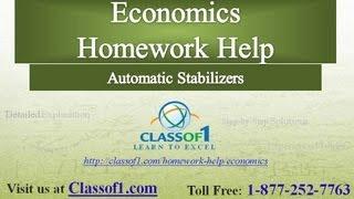 Automatic Stabilizers : Economics Homework Help by Classof1.com
