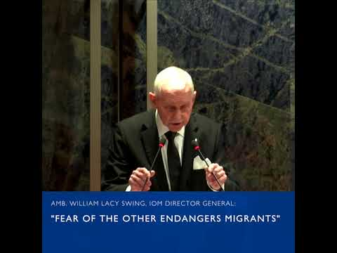 Amb. William Swing breaks down the challenges of Migration