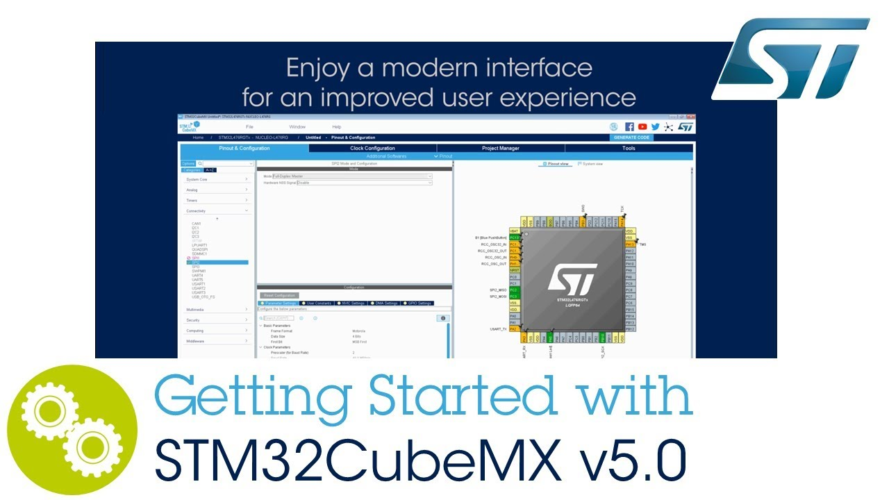 Getting started with STM32CubeMX v5