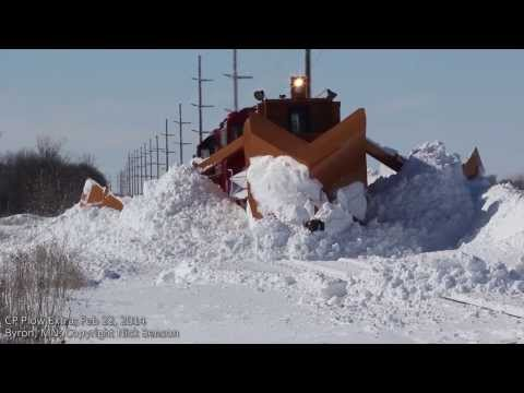 Thumbnail: Snowplow Train Clearing Drift with Jordan Spreader in Byron, MN