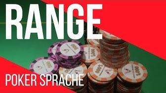 Poker Range  - Poker Ausdrücke erklärt – Casino und online Texas Holdem Sprache lernen