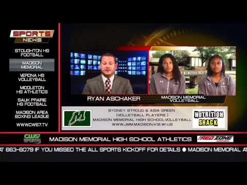 THE SPORTS NEWS   Madison Memorial Volleyball   Sydney Stroud and Asia Green   8/3/15