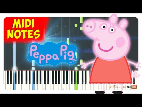 Peppa Pig - Main Theme Song Synthesia Tutorial