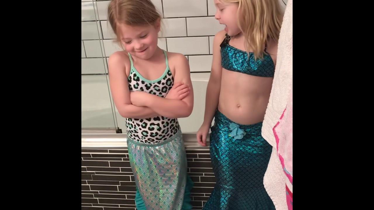 Slime Bath Fun with Big Sister - YouTube