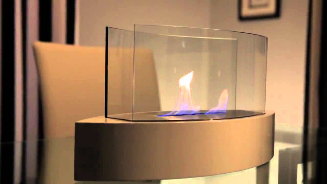 Anywhere Fireplace Lexington White Bio-ethanol Table Top Fireplace - Anywhere Fireplace Lexington White Bio-ethanol Table Top Fireplace