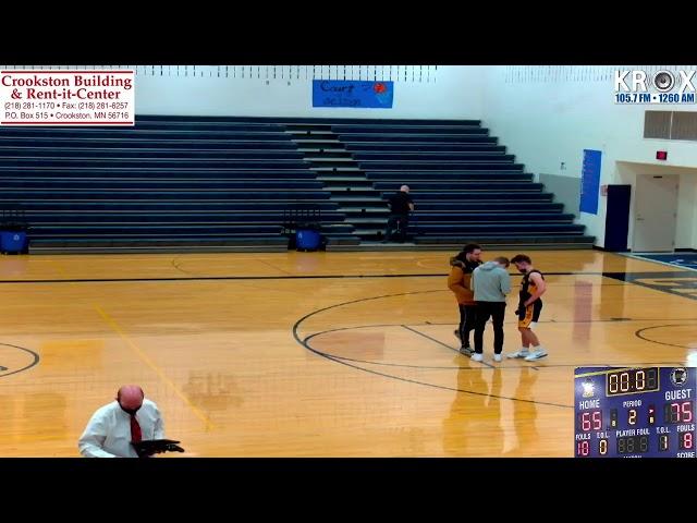 Crookston Pirate Boys Basketball vs Roseau