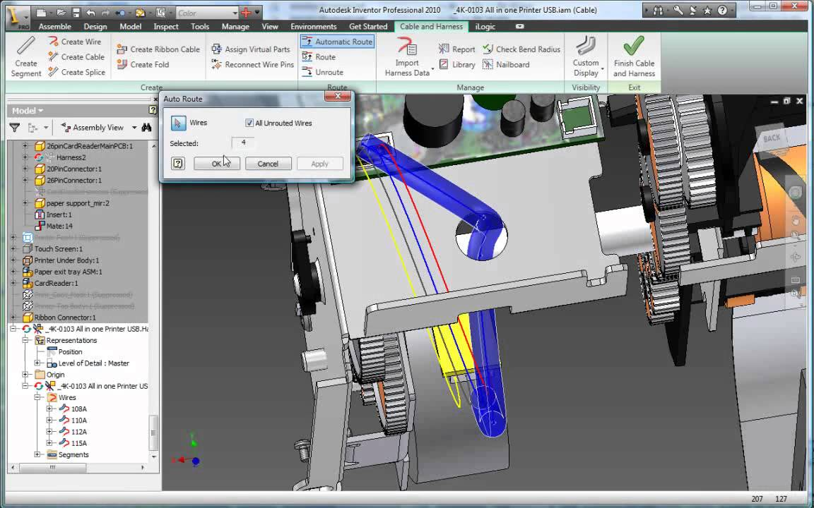 maxresdefault harness and cable design autodesk inventor 2014 youtube Aircraft Electrical Harness at bayanpartner.co