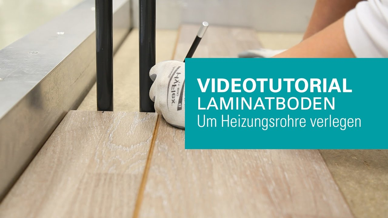 wineo laminatboden um heizungsrohre verlegen youtube. Black Bedroom Furniture Sets. Home Design Ideas