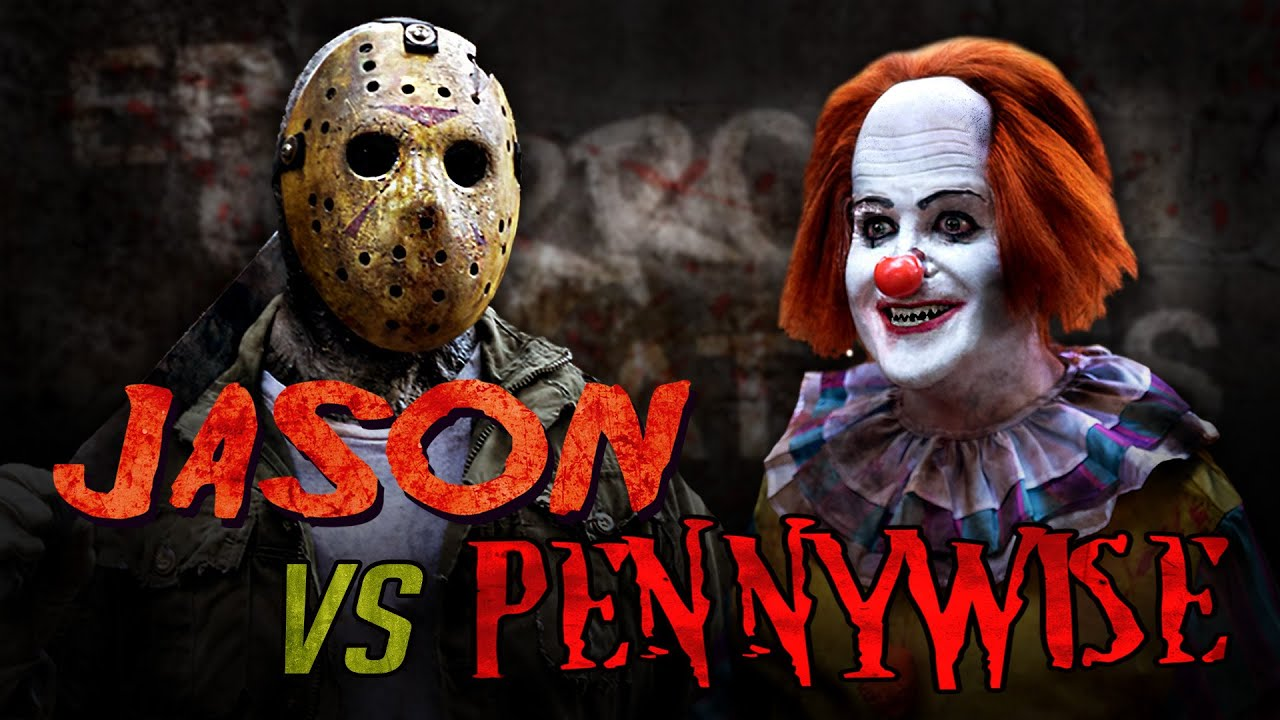 Jason Voorhees vs Pennywise IT clown - Scary Horror Fan Film fight Friday the 13th