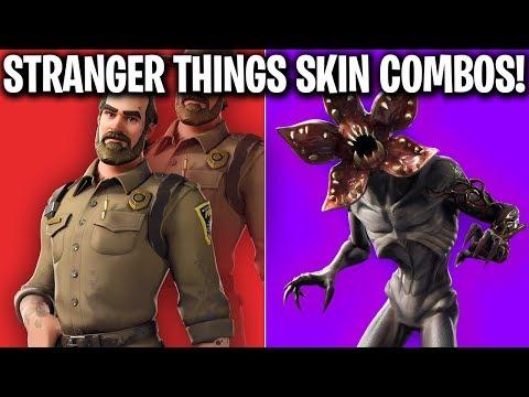 BEST FORTNITE X STRANGER THINGS SKIN COMBOS! (FORTNITE STRANGER THINGS SKIN COMBOS)