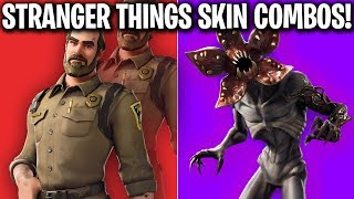 BEST FORTNITE X STRANGER THINGS SKIN COMBOS! (FORTNITE STRANGER THINGS SKIN COMBOS)