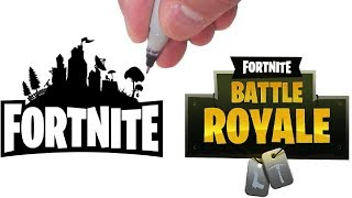 DRAWING FORTNITE VS. FORTNITE BATTLE ROYALE!  Which one is best?!
