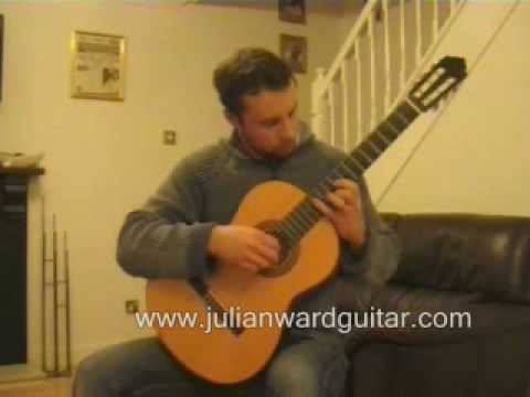Hallelujah Julian Ward classical guitar arrangement