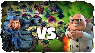 MAX Panzer vs. Dr. T! | BOOM BEACH | Tanks Level 17 vs. Dr. T! (Deutsch / German)