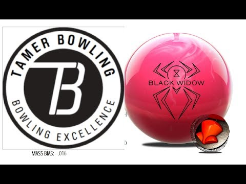 Hammer Black Widow Pink vs Black and Gold (3 testers - 2 patterns) by TamerBowling.com