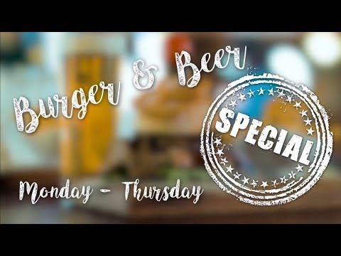 The Occidental Bar: Come and check out our new Burger & Beer specials.
