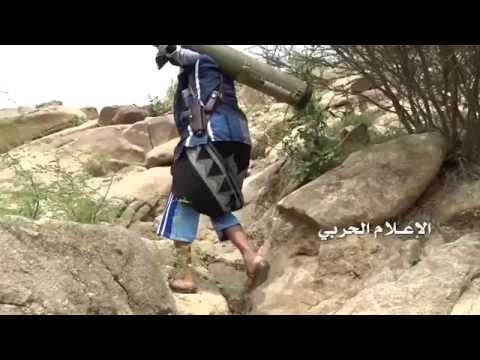 """Yemen war 2016- Houthis Launch Russian ATGM """"Kornet"""" Against Saudi Abrams Tank in Jizan 26\7\2016"""