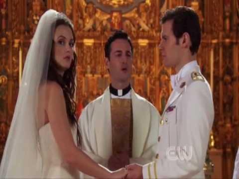 """Gossip Girl 5x13 Chuck & Blair -""""Blair sees Chuck in the church"""""""