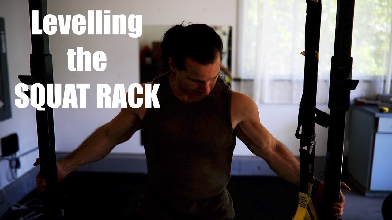Levelling the squat rack in the garage youtube