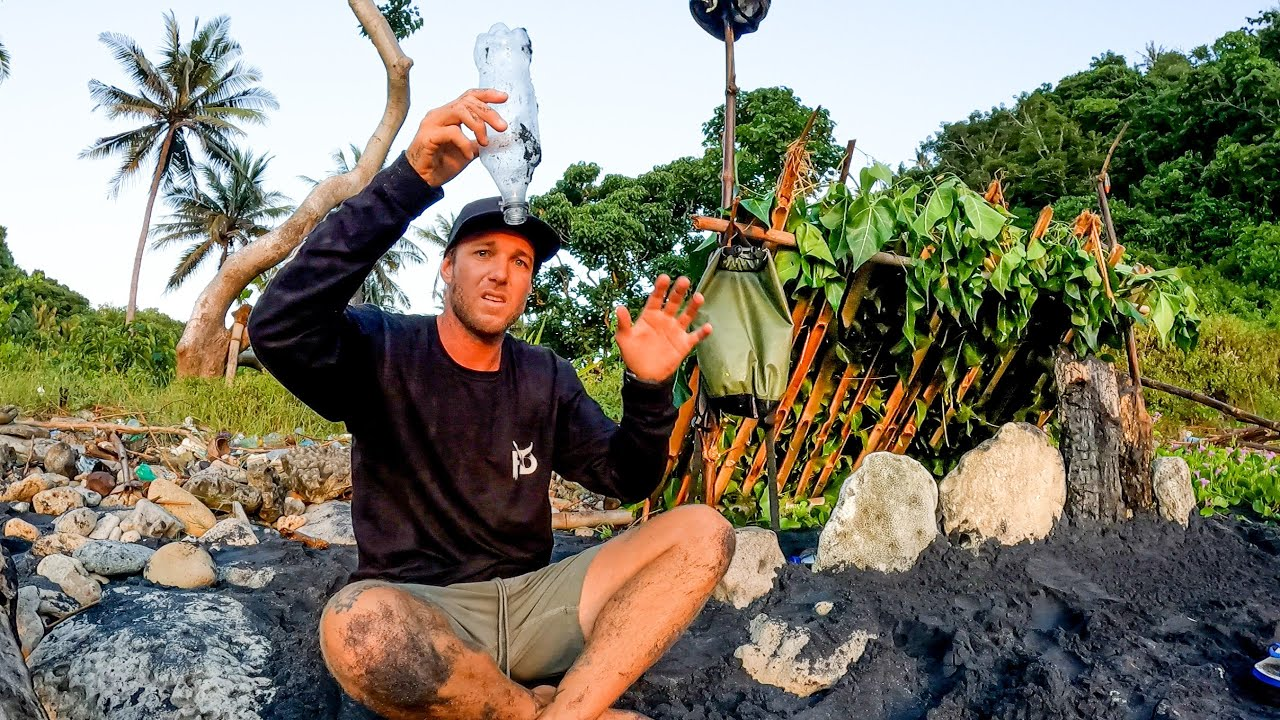 Download SOLO SURVIVAL (NO FOOD, NO WATER, NO SHELTER) with only a knife on an island. EP 55