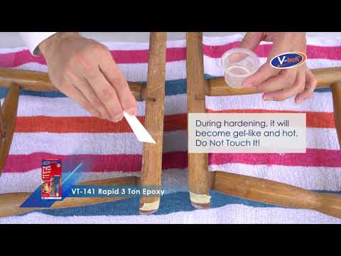 Wooden Stool Repair with Epoxy(VT-141)