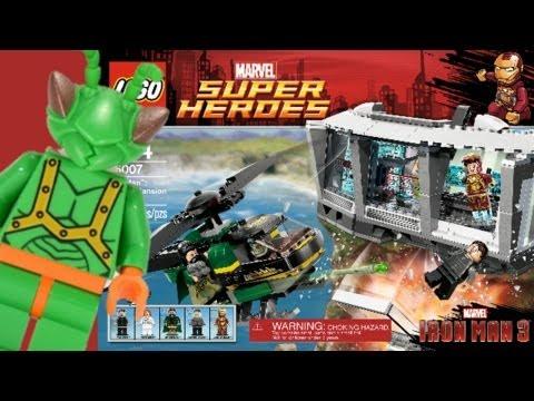 LEGO Iron Man 3 Malibu Mansion Attack Review 76007