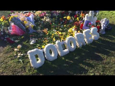 The grave of Dolores O'Riordan at Caherelly graveyard, Co. Limerick, Ireland (February 4th, 2018)