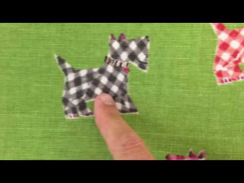 Hottie Scottie Sprout Drapery Fabric