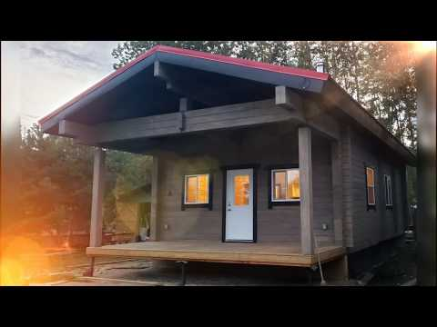 Small Luxury Log Cabin Built In Alberta, Canada.