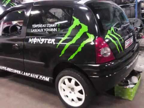 Clio RS Fol'car Jimmy TERPEREAU et Yohann LASCAUX - YouTube
