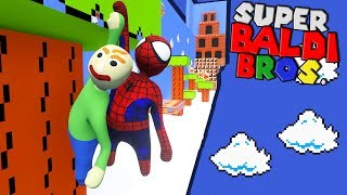 BALDI AND SPIDERMAN VISIT MARIO'S WORLD?! | Human Fall Flat