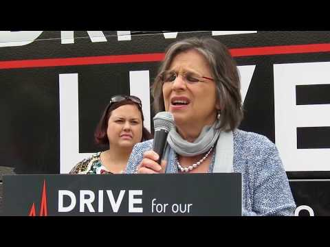 SAVE OUR HEALTH CARE -- Drive for Care Bus  -  Binghamton   8 -29 -17