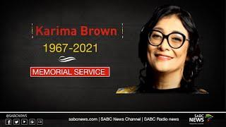 Veteran Journalist Karima Brown Memorial Service